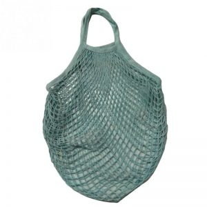 The Great Living Co. Blue Cotton Mesh Shopping Bag with short handles